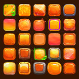 Funny cartoon orange buttons collection Royalty Free Stock Photo