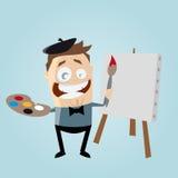 Funny cartoon painter Royalty Free Stock Photos