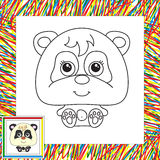 Funny cartoon panda Royalty Free Stock Photo