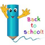 Funny cartoon pencil. Back to school Royalty Free Stock Photo