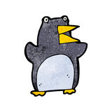 Funny cartoon penguin Stock Images