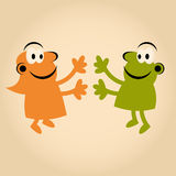 Funny cartoon people in love Royalty Free Stock Photo