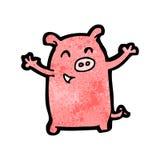 funny cartoon pig Stock Photos