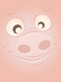 Funny cartoon pig Stock Photography