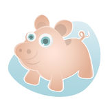 Funny cartoon pig Royalty Free Stock Images