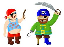 Funny cartoon pirates Royalty Free Stock Images