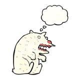 Funny cartoon polar bear Stock Photography