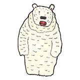 Funny cartoon polar bear Royalty Free Stock Images