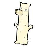 Funny cartoon polar bear Stock Photos
