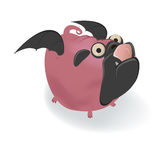 Funny cartoon pug in halloween costume Royalty Free Stock Photos