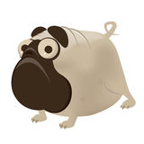 Funny cartoon pug Royalty Free Stock Photography