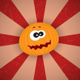 Funny Cartoon Pumpkin Stock Photo