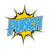 Funny cartoon punch Stock Photography