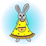 Funny cartoon rabbit Stock Photos