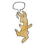 Funny cartoon rabbit with speech bubble Stock Photography