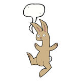Funny cartoon rabbit with speech bubble Royalty Free Stock Images