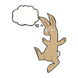 Funny cartoon rabbit with thought bubble Royalty Free Stock Photos