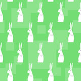 Funny cartoon rabbits. Abstract geometric seamless pattern background Stock Photo