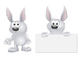 Funny cartoon rabbits Stock Photo