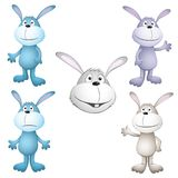 Funny cartoon rabbits Royalty Free Stock Photos