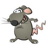 Funny cartoon rat Stock Image