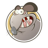 Funny cartoon rat Stock Photos