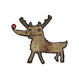 Funny cartoon reindeer Royalty Free Stock Photos