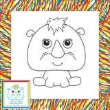 Funny cartoon rhino Royalty Free Stock Photo