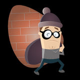 Funny cartoon robber Royalty Free Stock Photography