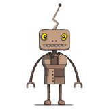 Funny cartoon robot. Vector illustration. This is file of EPS10 format Royalty Free Stock Photos