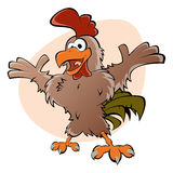 Funny cartoon rooster Stock Photo
