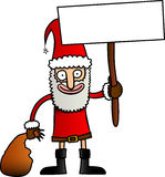 Funny cartoon santa Royalty Free Stock Image