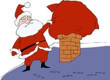 Funny cartoon Santa Claus Royalty Free Stock Images