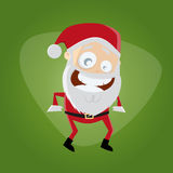 Funny cartoon santa claus Royalty Free Stock Images