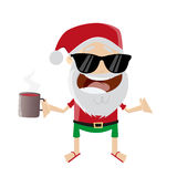 Funny cartoon santa claus Stock Photos