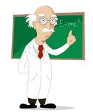 Funny cartoon scientist Royalty Free Stock Image