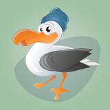 Funny cartoon seagull. Illustration of a funny cartoon seagull Royalty Free Stock Images