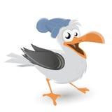 Funny cartoon seagull Stock Image