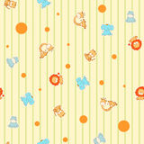 Funny cartoon seamless pattern Royalty Free Stock Photos