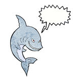 Funny cartoon shark with speech bubble Royalty Free Stock Photo
