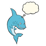 funny cartoon shark with thought bubble Stock Images