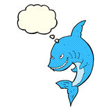 funny cartoon shark with thought bubble Stock Photography