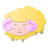 Funny cartoon sheep tissue papercraft Stock Photo