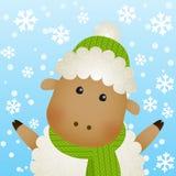 Funny cartoon sheep Royalty Free Stock Photo