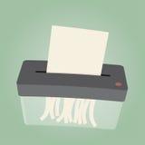 Funny cartoon shredder. Funny cartoon of a shredder Royalty Free Stock Images