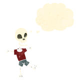 funny cartoon skeleton Stock Images
