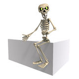Funny cartoon skeleton invites you Royalty Free Stock Images