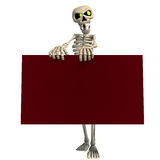 Funny cartoon skeleton invites you Stock Photo