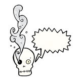 Funny cartoon skull Stock Images