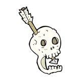 funny cartoon skull and arrow Stock Images